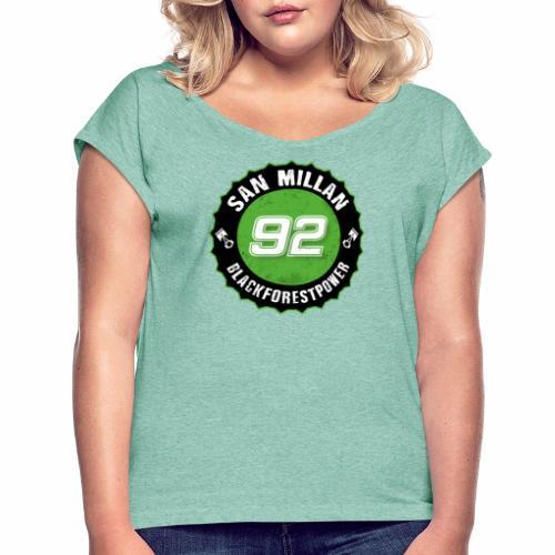 San Millan Blackforestpower 92 rund - schwarz - Frauen T-Shirt mit gerollten Ärmeln