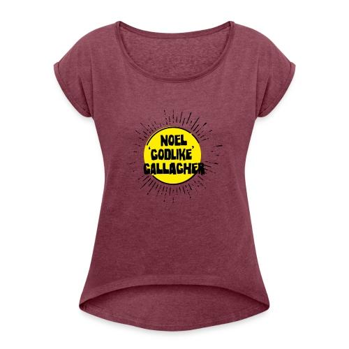 Noel Gallagher 'Godlike' - Black on Yellow - Maglietta da donna con risvolti