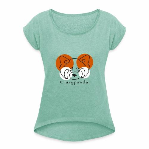 Crazypanda - T-shirt à manches retroussées Femme