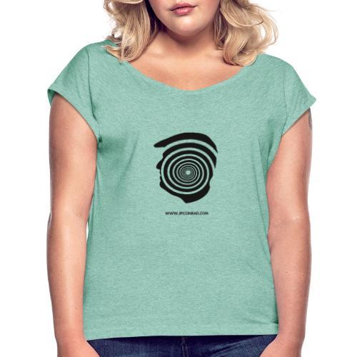 J. P. Conrad Head - Frauen T-Shirt mit gerollten Ärmeln