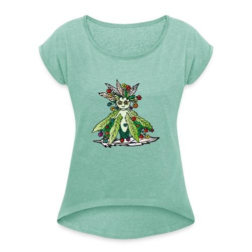 ille die Hüterin der Wiesen - Frauen T-Shirt mit gerollten Ärmeln