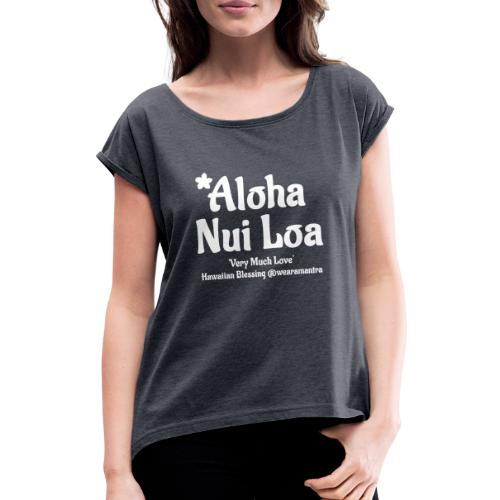 Aloha Nui Loa 2 white - Maglietta da donna con risvolti