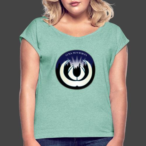 Luna sus scrofa - der Schweinemond von Jägershirts - Frauen T-Shirt mit gerollten Ärmeln