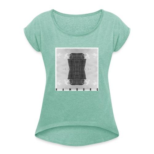 Hamburg 20.1 - Frauen T-Shirt mit gerollten Ärmeln