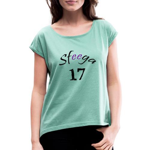 Sfeega - Maglietta da donna con risvolti