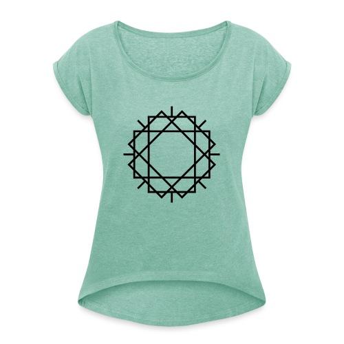 Widerstand mit Spaß 20.1 - Frauen T-Shirt mit gerollten Ärmeln