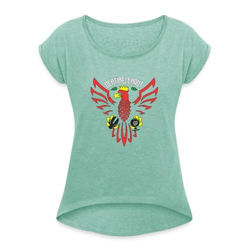 DerTirolerAUT - Frauen T-Shirt mit gerollten Ärmeln