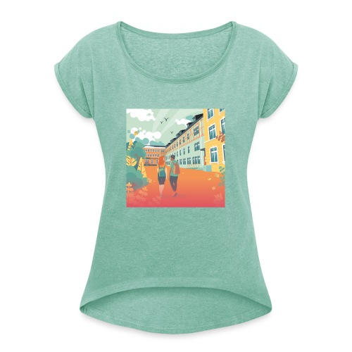T-Shirt Vie À Saint André 108 - T-shirt à manches retroussées Femme