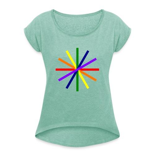 Glücksrad 21.1 - Frauen T-Shirt mit gerollten Ärmeln