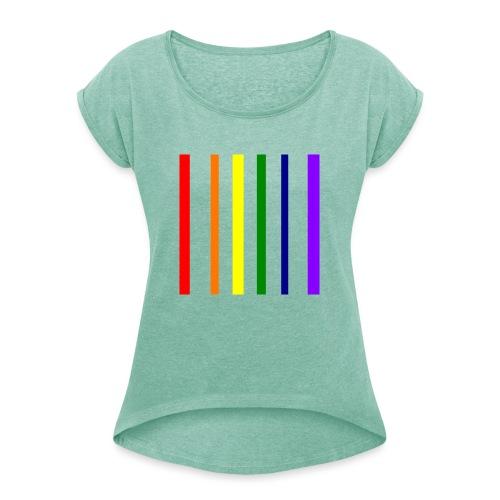 UNSCALABLE - Frauen T-Shirt mit gerollten Ärmeln
