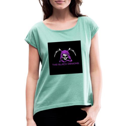 csgo team logo - Dame T-shirt med rulleærmer