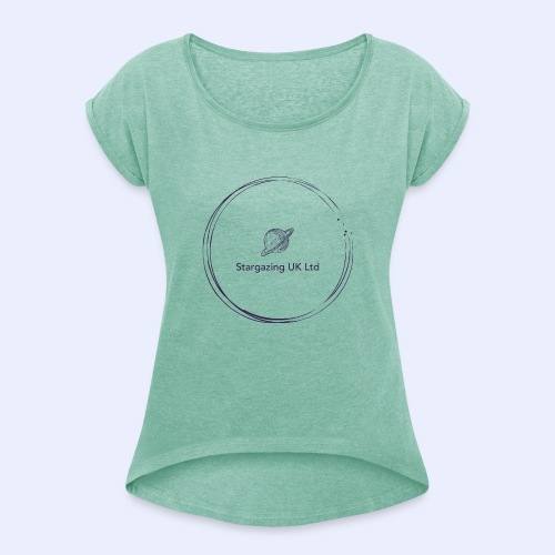 Stargazing UK - Women's T-Shirt with rolled up sleeves