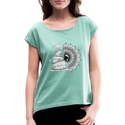 TortaMandala - Maglietta da donna con risvolti