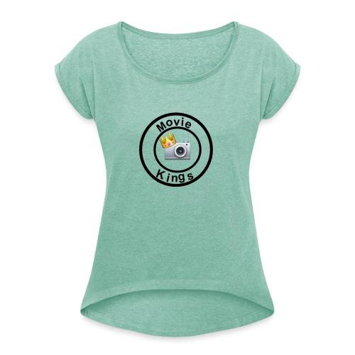 Movie Kings - T-shirt med upprullade ärmar dam