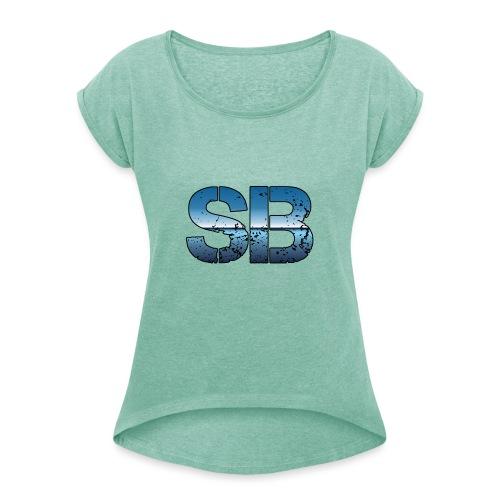 SB Logo - Dame T-shirt med rulleærmer