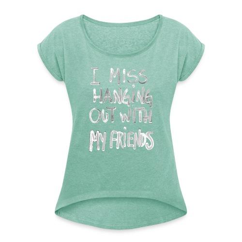 by Rene Holm - Dame T-shirt med rulleærmer