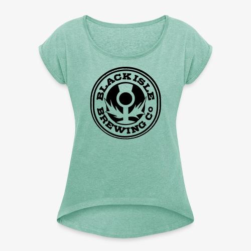 scotlandbrewing1 - Frauen T-Shirt mit gerollten Ärmeln