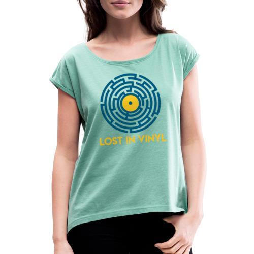 Lost in vinyl - Maglietta da donna con risvolti