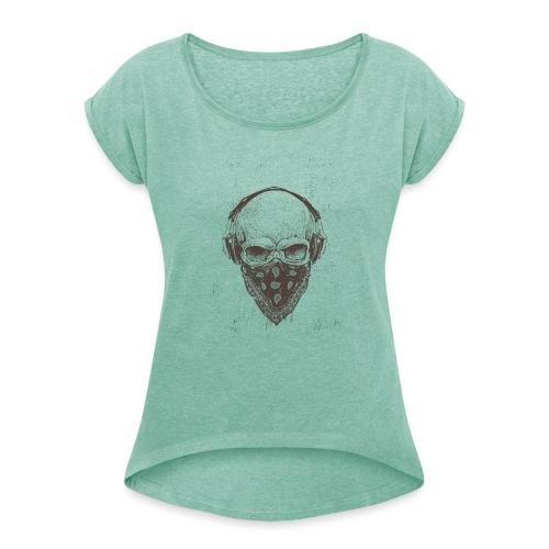 Skull Rock - Dame T-shirt med rulleærmer