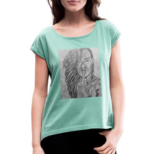 Jyrks_kunstdesign - Dame T-shirt med rulleærmer