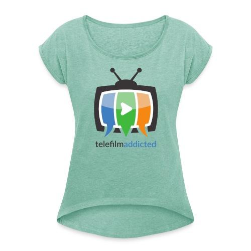 Telefilm Addicted Logo - Maglietta da donna con risvolti