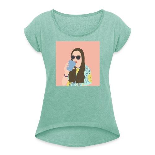 Gaia - Maglietta da donna con risvolti