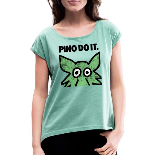 PINO DO IT - Maglietta da donna con risvolti