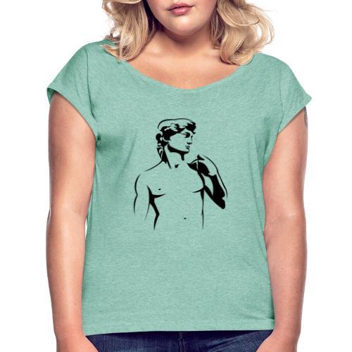 Kunst - Frauen T-Shirt mit gerollten Ärmeln