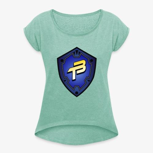 logo3 - T-shirt à manches retroussées Femme