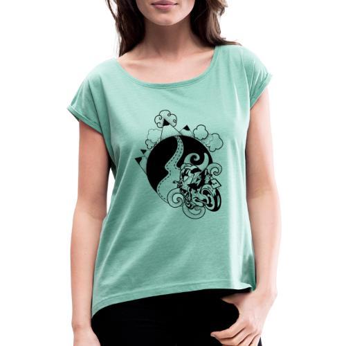 Partir à L'aventure - T-shirt à manches retroussées Femme