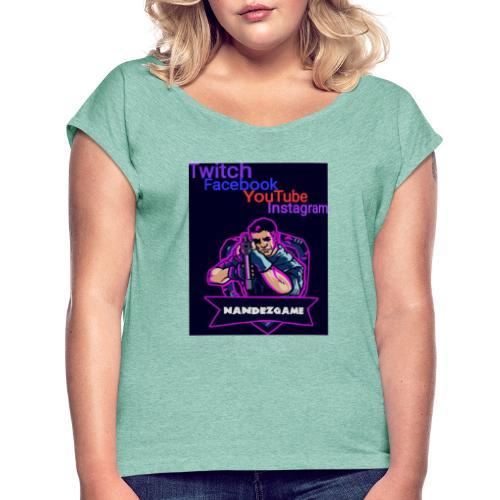 IMG 20200423 102319 - Frauen T-Shirt mit gerollten Ärmeln