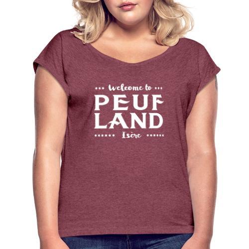 Peuf Land 38 - Isère - White - T-shirt à manches retroussées Femme