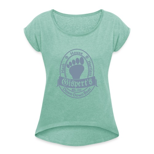 beer_black_ready_to_print_2.svg - T-shirt med upprullade ärmar dam