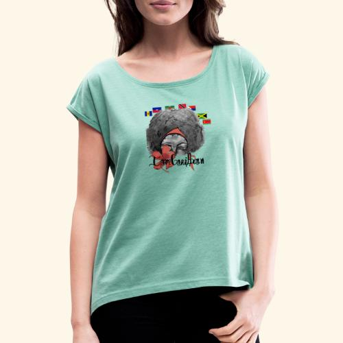 Afro caribbean - T-shirt à manches retroussées Femme