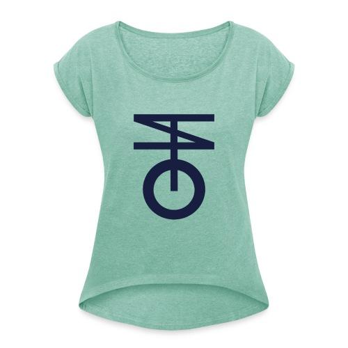 TEZMA - Maglietta da donna con risvolti
