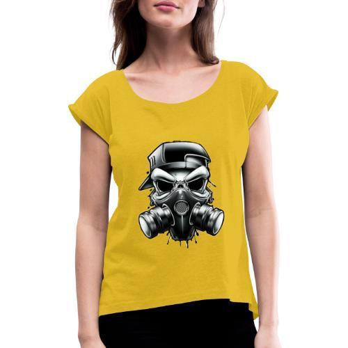mask - Camiseta con manga enrollada mujer