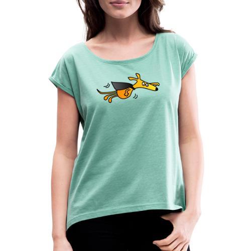 Supergalgo - Frauen T-Shirt mit gerollten Ärmeln