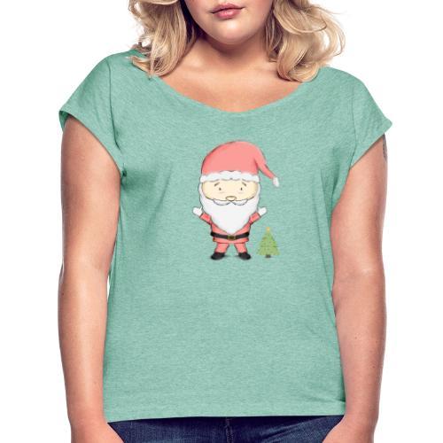 SA - Camiseta con manga enrollada mujer