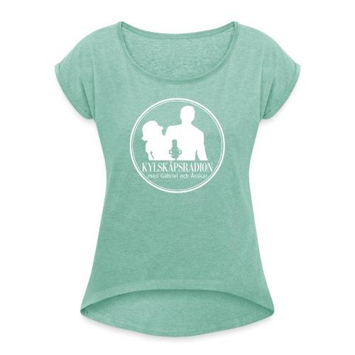 Logga helvit - T-shirt med upprullade ärmar dam