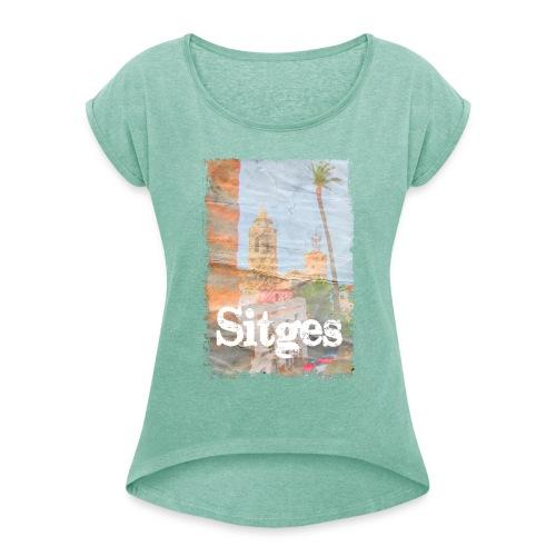 sitges palm - Camiseta con manga enrollada mujer