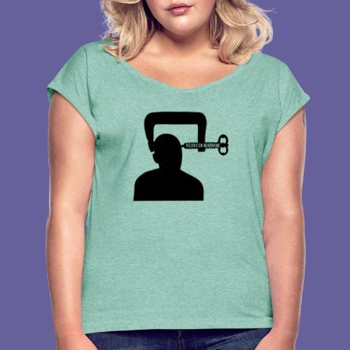Mal de tête en grappe dans un étau - T-shirt à manches retroussées Femme