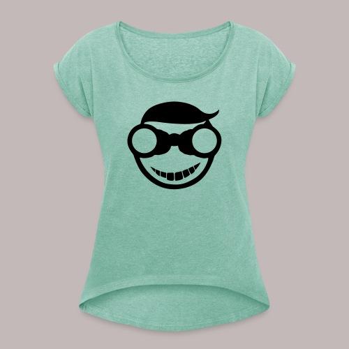 Peeper Donald - Frauen T-Shirt mit gerollten Ärmeln