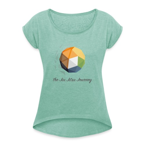 Jiu Jitsu Journey - Frauen T-Shirt mit gerollten Ärmeln