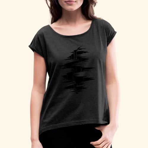 tremblement de terre - T-shirt à manches retroussées Femme
