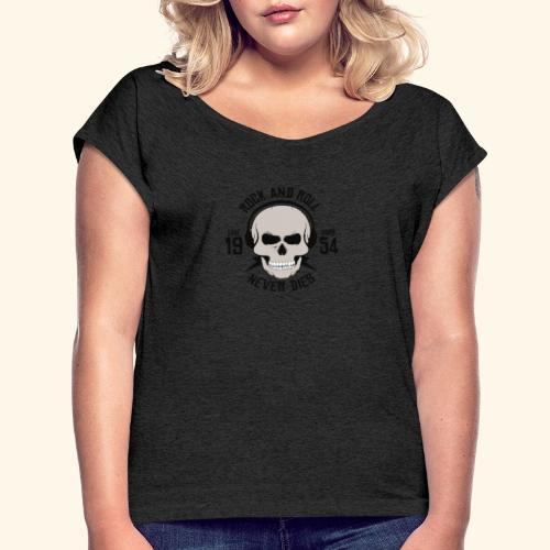 Rock and roll - T-shirt à manches retroussées Femme