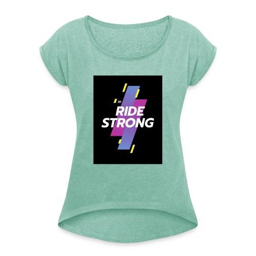 20191009 195512 0000 - Frauen T-Shirt mit gerollten Ärmeln