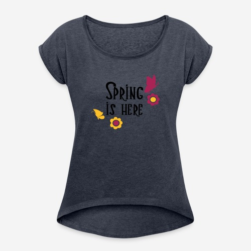 SPRING IS HERE - Maglietta da donna con risvolti