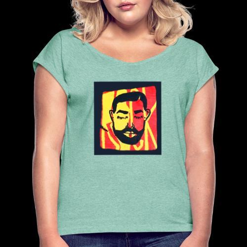 Drakeawake - Vrouwen T-shirt met opgerolde mouwen