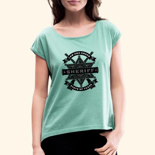 Law and order - T-shirt à manches retroussées Femme