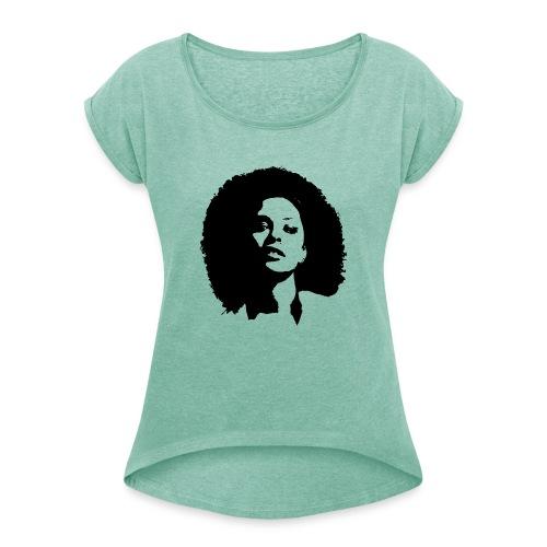 avenuelady - Vrouwen T-shirt met opgerolde mouwen